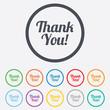 Thank you sign icon. Customer service symbol.