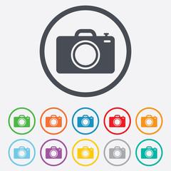 Photo camera sign icon. Photo symbol.