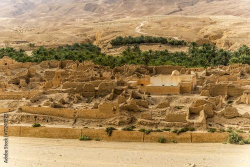Poster Tunesië Oasis Túnez
