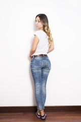 Woman in Jeans from back