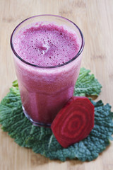 Beet smoothie drink