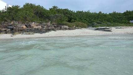 Beautiful pristine blue water beach in Cuba