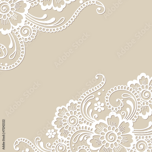 Flower vector ornament corner - 71242322