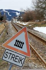 Streik bei der Bundesbahn