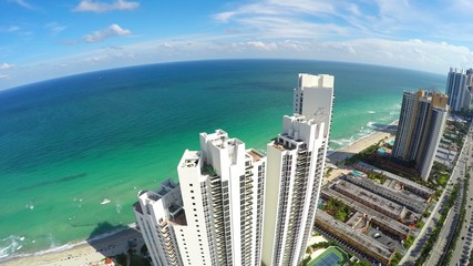 Aerial 4k video Sunny Isles Beach