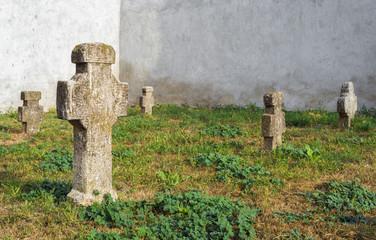 Old romanian graveyard