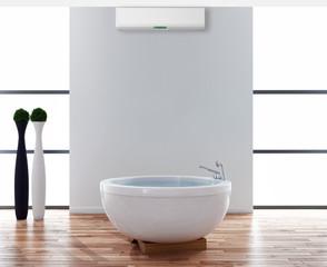 Bagno con aria condizionata