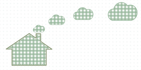 House and clouds from the chimney. Cute Baby Style