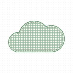 Green cloud fabric. Cute Baby Style