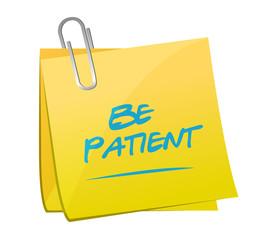be patient memo post illustration