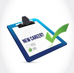 no to a new career check mark