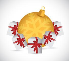presents and gift ornament illustration design