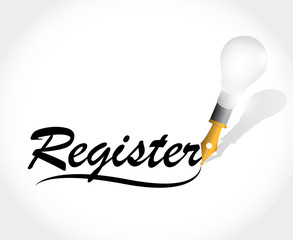 register sign illustration design