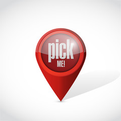 pick me pointer illustration