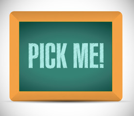 pick me message illustration design
