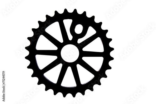 Leinwandbild Motiv Kettenblatt BMX