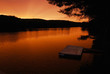 Swimming Dock on the Lake