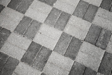 Gray urban roadside pavement pattern, background photo texture
