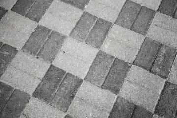 Gray urban roadside pavement pattern, background photo texture