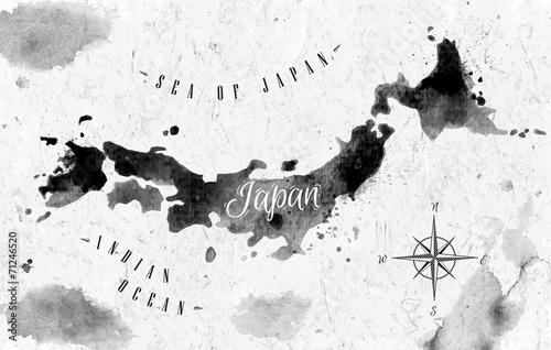 Ink Japan map - 71246520