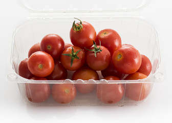 Cherry tomatoes in retail packaging