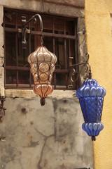 Lámparas en cristal de Murano.