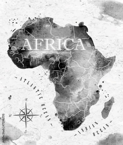 Ink Africa map - 71246770