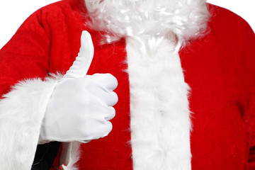 Santa Claus doing the okay sign