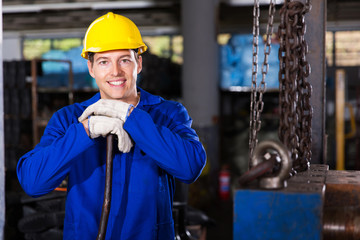 industrial worker in workshop
