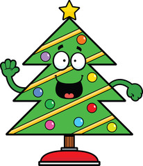 Cartoon Christmas Tree Happy