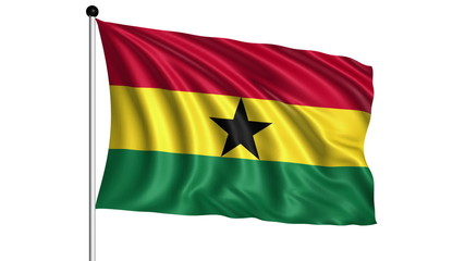 flag of Ghana - loop (+ alpha channel)