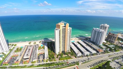 4k drone Aerial Sunny Isles Beach FL USA
