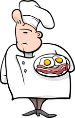english chef cartoon illustration