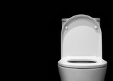 toilet bowl with black background