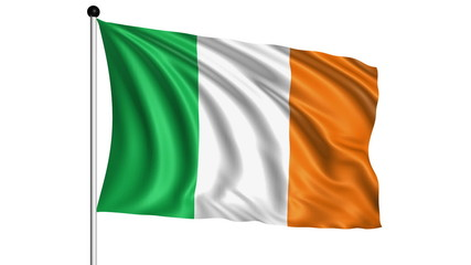flag of Ireland - loop (+ alpha channel)