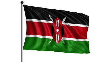flag of Kenya - loop (+ alpha channel)