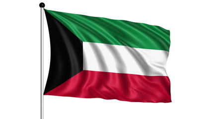 flag of Kuwait - loop (+ alpha channel)