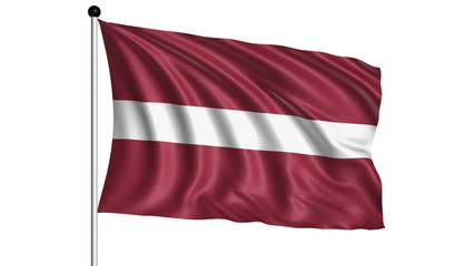 flag of Latvia - loop (+ alpha channel)