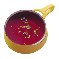 Close up Healthy Beetroot Soup in the Pot