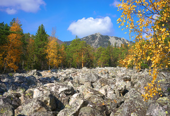 The mountains of the Southern Urals. Russia.