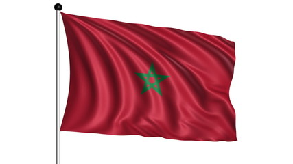 flag of Morocco - loop (+ alpha channel)