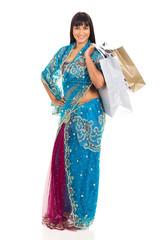 young indian woman shopping