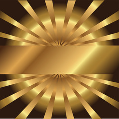 Abstract golden background with place for your text