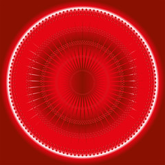 Abstract rays Circles mosaic Vector red Background