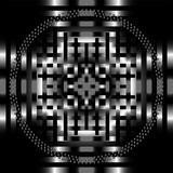 The vector black light abstract grid circle background poster