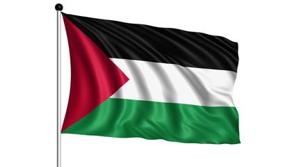 flag of Palestine - loop (+ luma matte)