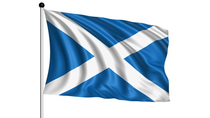 flag of Scotland - loop (+ alpha channel)