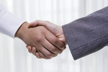 Businessman greeting with handshake
