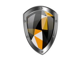 Protection shield with triangle pattern
