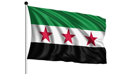flag of Syrian National Coalition - loop (+ alpha channel)